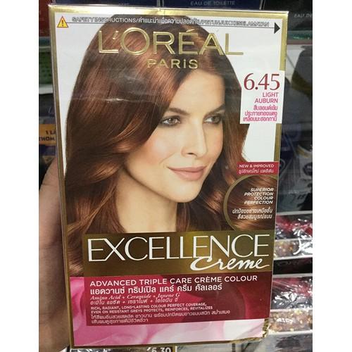 nhuộm tóc LOreal Paris Exc Crème #6.45 172ml Nâu ánh đỏ