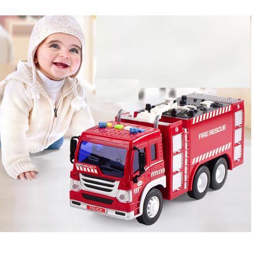 Xe ô tô cứu hỏa vòi phun xe chạy đà có âm thanh và đèn  tỉ lệ 1:16