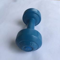 Tạ tay nhựa 2kg, tạ nhựa, tạ tay 2kg, dụng cụ tập tay, tạ nhựa 2kg ruột xi măng non, tạ khánh sport long thành