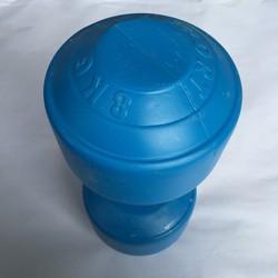 1 cục Tạ tay nhựa 8kg, tạ nhựa, tạ tay 8kg, dụng cụ tập tay, tạ nhựa 8kg như trong hình