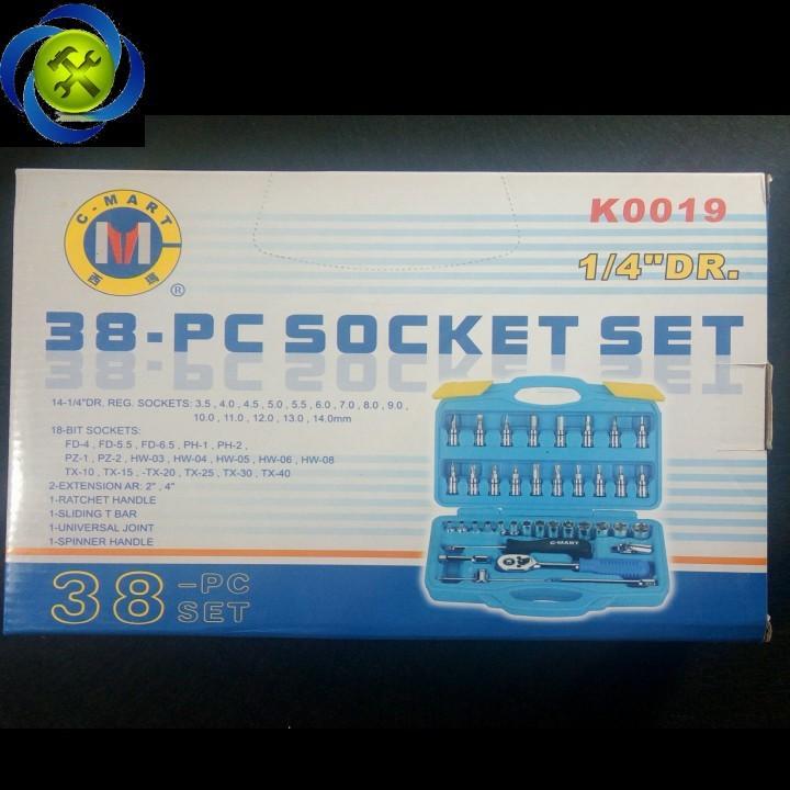 Bộ cần tuýp 1 phần 4 C-Mart K0019 38 chi tiết 4