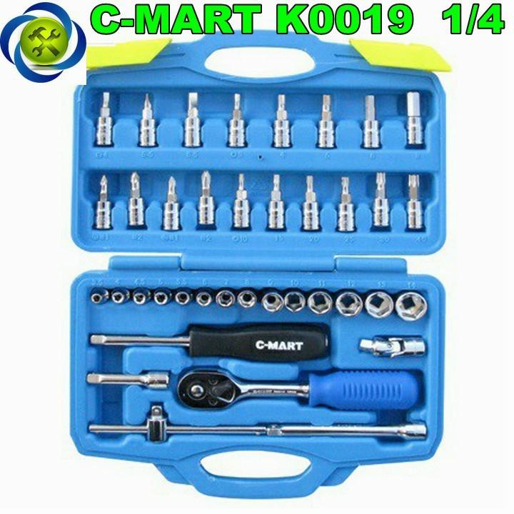 Bộ cần tuýp 1 phần 4 C-Mart K0019 38 chi tiết 1
