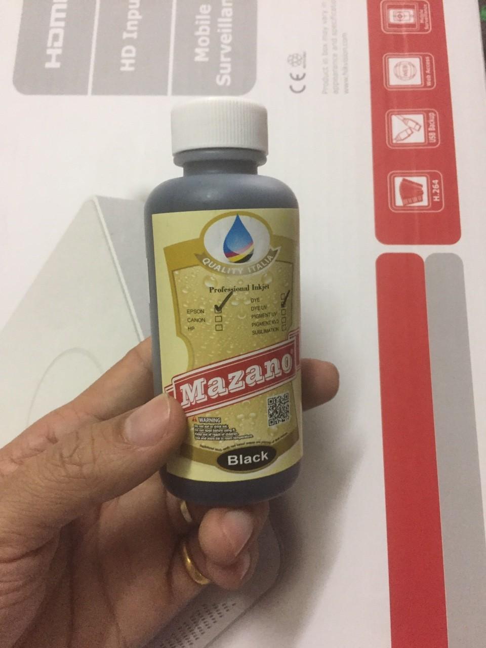 Mực in Mazano màu đen cho máy in Epson L800, L805, L850