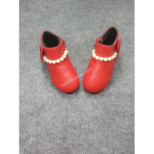Giày Bốt Bé Gái Đính Nơ Hạt Cườm Cho Bé Từ 1-3 Tuổi BB01