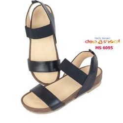 Giày sandal nữ big size quai ngang da bò thật siêu bền depvashock