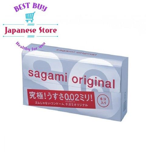 Bao Cao Su Sagami Original 0.02 Hộp 6 Bao - Siêu mỏng 0.02