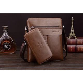 Túi đeo chéo nam cao cấp BARNOROO tặng ví, túi đựng ipad thời trang - BARNORO-TAP thumbnail