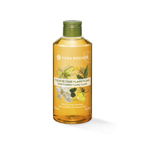 Gel Tắm Yves -Rocher Sensual Shower Gel Tiare Flower and Ylang Ylang 400ml