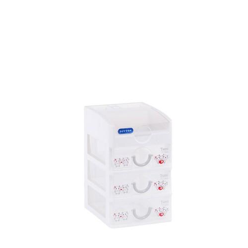 Tủ nhựa Duy Tân Tomi Mini 4 tầng màu trắng