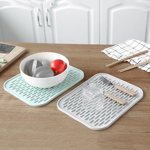 Khay Silicon dày lót ly, chén đĩa chống thấm nước, dễ vệ sinh