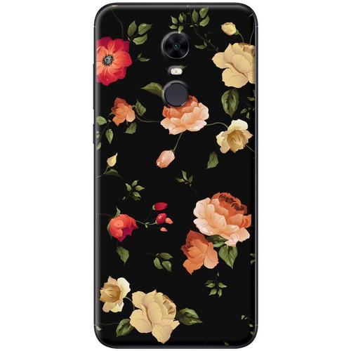 Ốp lưng nhựa dẻo Xiaomi Redmi 5 Plus Hoa cam đỏ