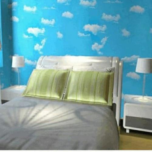 10m giấy dán tường họa tiết mây trắng khổ 45