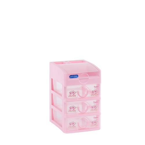 Tủ nhựa Duy Tân Tomi Mini 4 tầng màu hồng- GIAO MÀU NGẪU NHIÊN