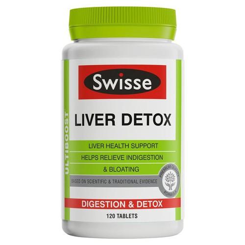 Viên uống Giải độc gan  Swisse  Ultiboost Liver Detox 120 viên xách tay