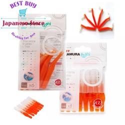 Combo Bàn chải kẽ răng Nhật dạng chữ L và dạng chữ I Okamura