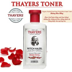 Nước hoa hồng không cồn THAYERS Rose Petal Witch Hazel Toner 355ml - thayers.rose