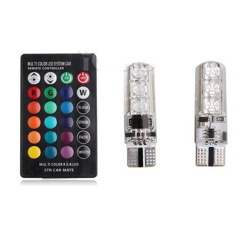 Combo 3 cặp đèn xi nhan - demi xe mây điều khiển 16 màu