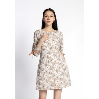 De Leah - Đầm Suông Tay Lỡ Xẻ - Thời trang thiết kế - VL1811061Tr thumbnail