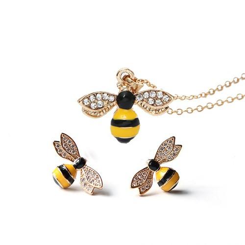 Combo set dây chuyền và bông tai Bee S11 Hàn Quốc - 6104183 , 12634477 , 15_12634477 , 59000 , Combo-set-day-chuyen-va-bong-tai-Bee-S11-Han-Quoc-15_12634477 , sendo.vn , Combo set dây chuyền và bông tai Bee S11 Hàn Quốc