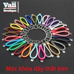 Móc khóa dây thắt bím - nhiều màu