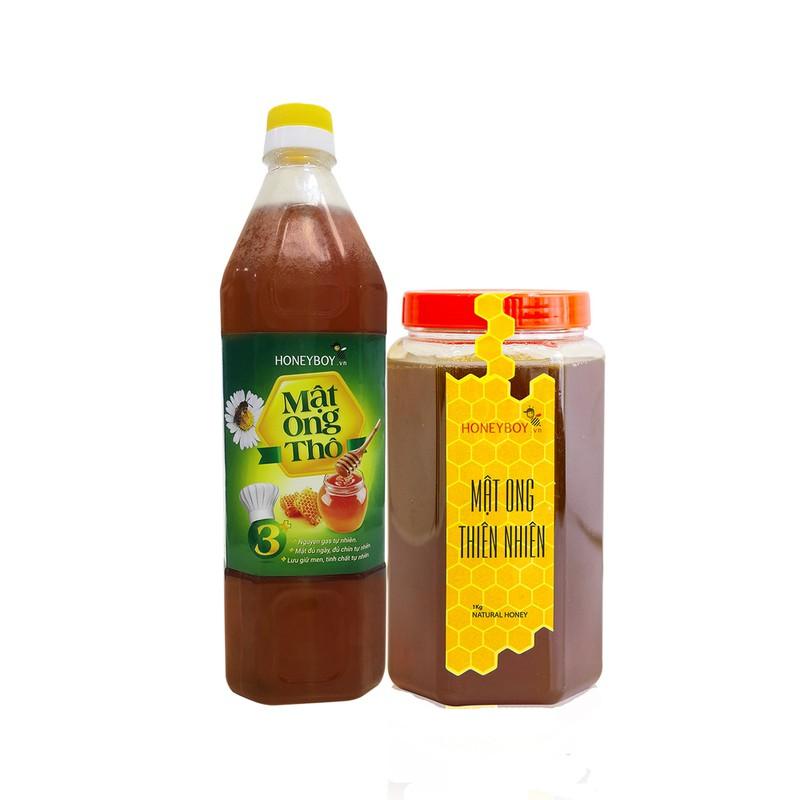 Mật Ong Thiên Nhiên Honeyboy 1KG Và Mật Ong Thô Honeyboy 1000 ML – 2MOTN1KGMOT1L