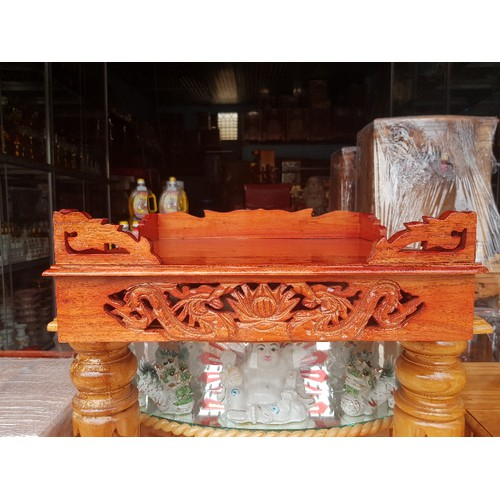 Bàn thờ treo tường gỗ xoan ngang 48 cm