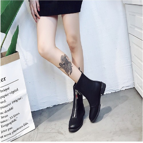 Giày nữ, Martin Boots  da nữ đế vuông khóa kéo cổ cao - 4452753 , 12623864 , 15_12623864 , 230000 , Giay-nu-Martin-Boots-da-nu-de-vuong-khoa-keo-co-cao-15_12623864 , sendo.vn , Giày nữ, Martin Boots  da nữ đế vuông khóa kéo cổ cao