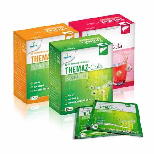 Bột sủi thanh nhiệt giải độc gan Themaz Cola Original - 10 gói.hộp