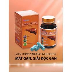 thực phẩm sakura liver detox tăng cường chức năng gan