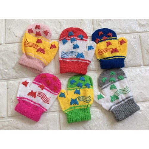 Combo 4 đôi bao tay len cho bé 0-2 tuổi
