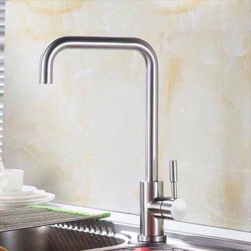 Vòi rửa bát cần số 7 Inox 304 nóng lạnh cao cấp