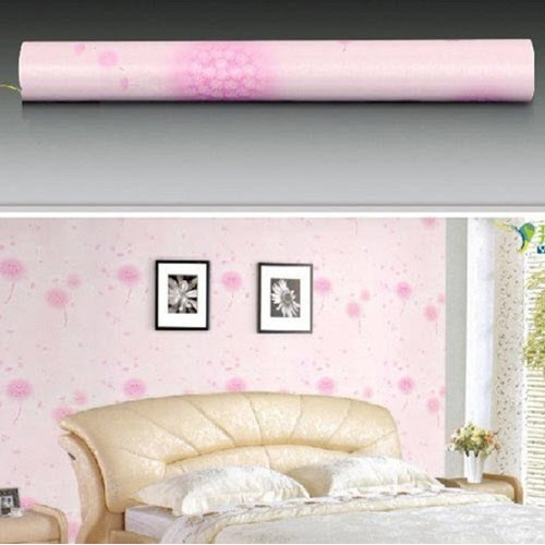 10m giấy dan tường có sẵn keo họa tiết bồ công anh hồng khổ 45