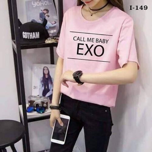 Áo thun nữ EXO phong cách Hàn Quốc form rộng vải dày mịn