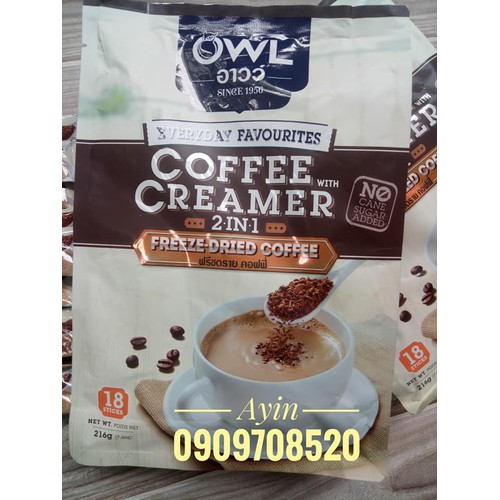 Cà phê OWL Thái Lan - Coffee Creamer 2 IN 1