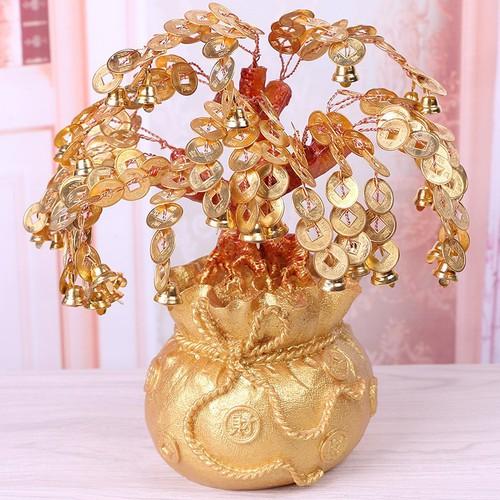 Cây Tiền Vàng May Mắn 22cm - 6363806 , 12971037 , 15_12971037 , 285000 , Cay-Tien-Vang-May-Man-22cm-15_12971037 , sendo.vn , Cây Tiền Vàng May Mắn 22cm