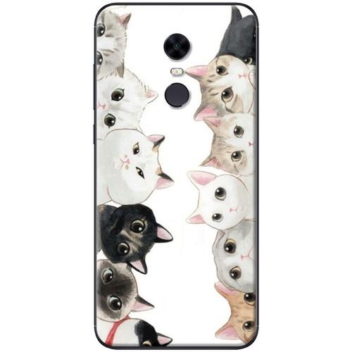Ốp lưng nhựa dẻo Xiaomi Redmi 5 Plus Đàn mèo