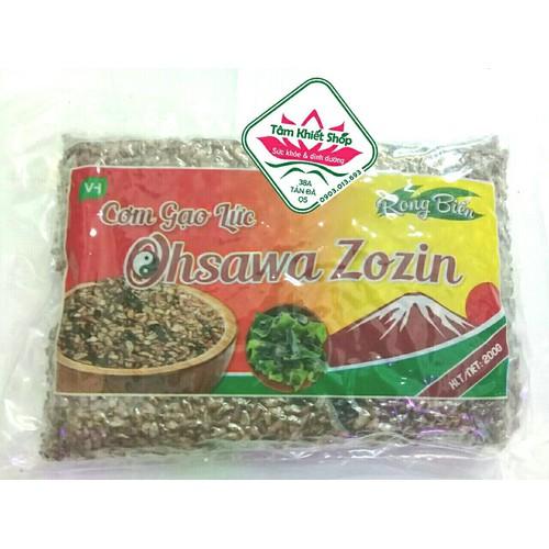 combo 8gói gạo lứt sấy ăn liền rong biểnzozin OHSAWA, hsd:2.2020