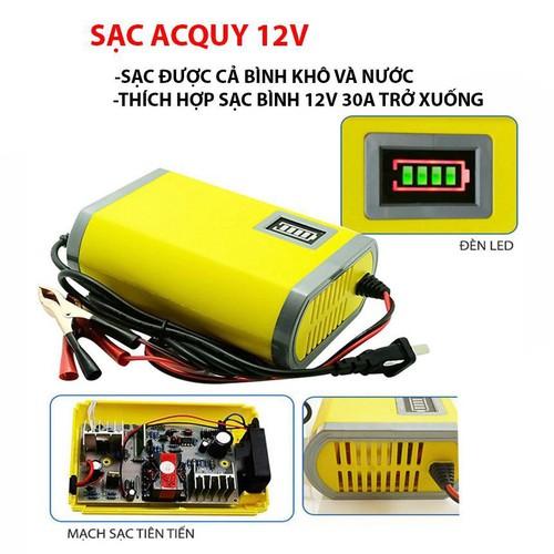 Bộ sạc bình ắc quy 12V, Sạc Acquy 12V Nguồn Xung ổn Định - 6510752 , 13156293 , 15_13156293 , 175000 , Bo-sac-binh-ac-quy-12V-Sac-Acquy-12V-Nguon-Xung-on-Dinh-15_13156293 , sendo.vn , Bộ sạc bình ắc quy 12V, Sạc Acquy 12V Nguồn Xung ổn Định