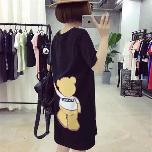 Đầm thun hình gấu