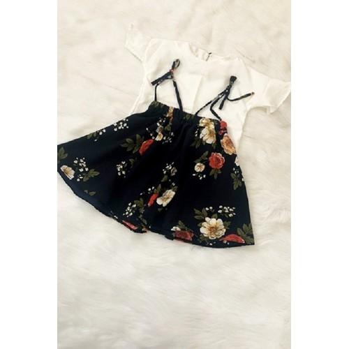 Đầm bé chân váy hoa
