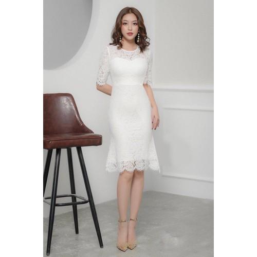 Đầm ren dự tiệc tay lỡ - Size M, L