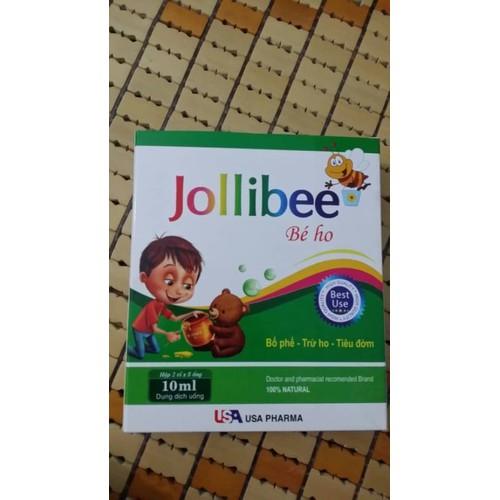 Siro ho thảo dược tự nhiên ống nhựa bẻ - Jollibee bé ho - HỘP 10 ỐNG