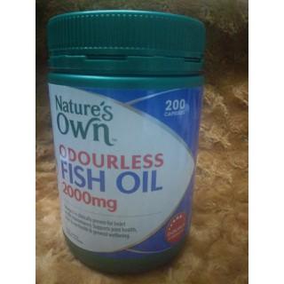 Dầu cá fish oil Nature s own không mùi hàm lượng cao 2000mg 200 viên nang - CVU_63404 thumbnail