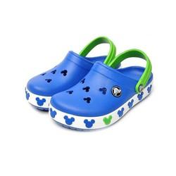 Dép sục nhựa chống hôi chân Crocs. band mickey trẻ em màu xanh dương