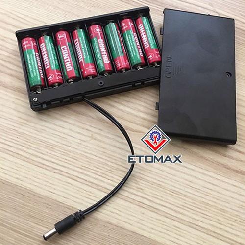 Hộp kết nối 8 pin tiểu AA 1.5V thành nguồn 12V