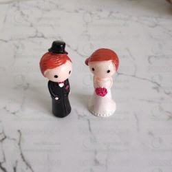 Cặp đôi cô dâu chú rể đám cưới đồ trang trí tiểu cảnh, lưu niệm