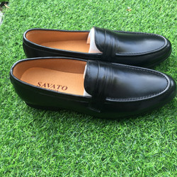 Giày lười nam da bò thật BH 1 năm - Xưởng giày nam da thật