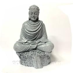 Tượng Đá Phật Thích Ca Ngồi Thiền Định - Đá Xám