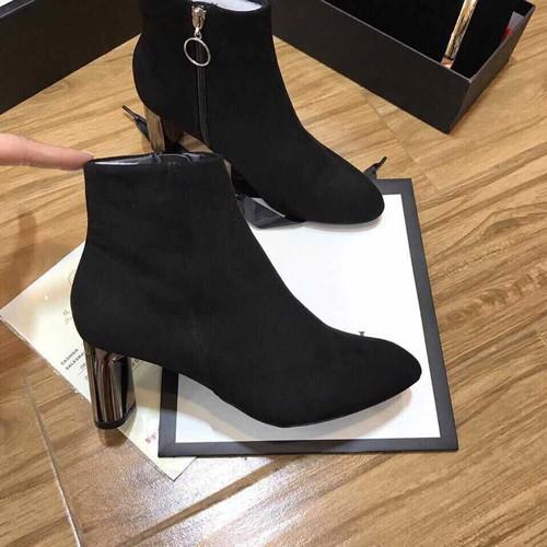 Giày Boot Nữ Da Lộn Đẹp