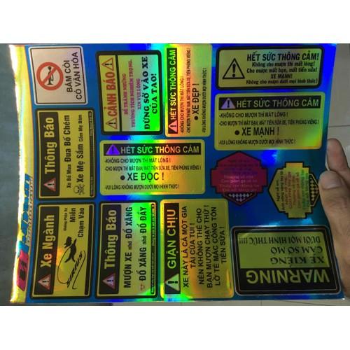 Tem cảnh báo 7 màu cho các loại xe